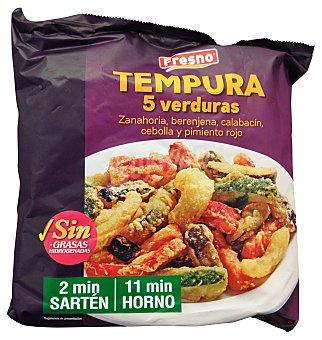 Fresno Tempura verduras congelada (zanahoria, berenjena, calabacin, cebolla y pimiento rojo) Paquete 400 g