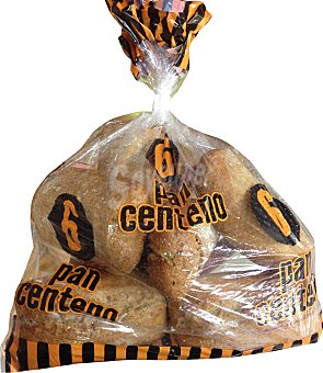 Panamar Pan bocadillo centeno (Harina de centeno, trigo y centeno integral) Paquete de 6 unidades (465 g)