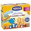 Papilla líquida de 8 cereales con miel desde 6 meses Pack 2 uds x 250 g Nestlé Papillas