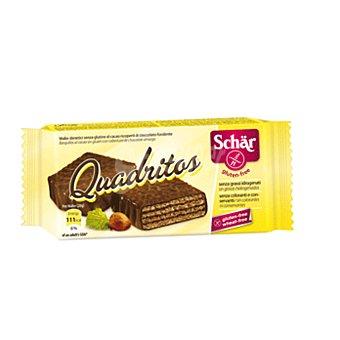 Schär Snack quadritos con chocolate SIN gluten 40 gr