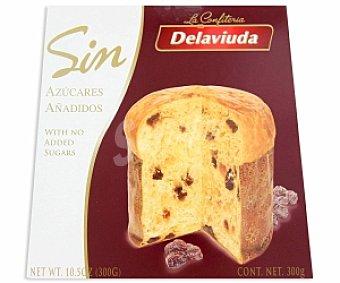 Delaviuda Panettone con pasas sin azucares añadidos 300 gramos