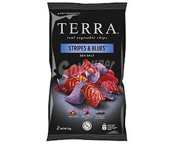Terra Chips Patatas fritas stripes y blues 110 g