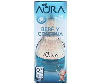 Aura Ambientador de coche con perfumador de madera para colgar con olor a colonia de bebe aura