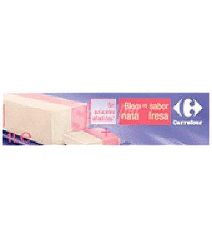 Carrefour Helado bloque nata/fresa sin azucar Envase de 1 l.