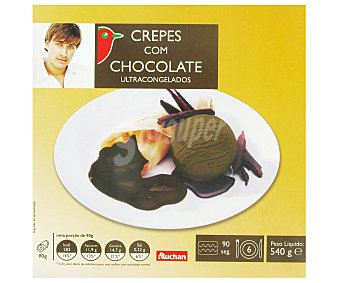 Auchan Crepes con Chocolate Ultracongelados 540g