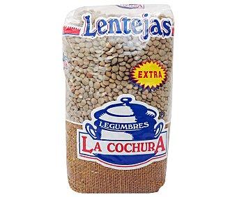 La cochura Lentejas pardina extra paquete de 500 g