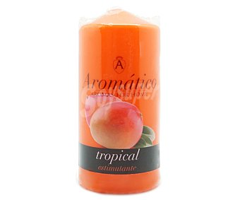 Aromático Vela cilíndrica perfumada con olor a mango 1 unidad