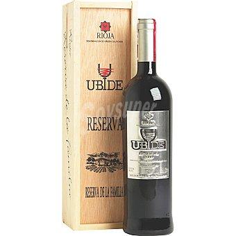 UBIDE Vino tinto reserva de familia D.O. Rioja Botella 75 cl