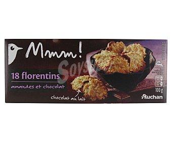 Mmm Auchan Galletas con chocolate con leche y almendras 100 gr