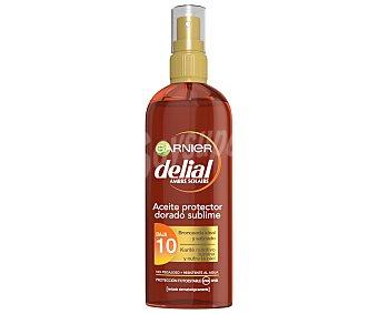 Delial Garnier Aceite protector dorado sublime FP-10 con karite nutritivo resistente al agua con karite nutritivo Spray 150 ml