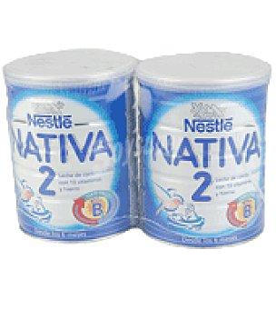 Nativa Nestlé Leche 2 continuación en polvo Pack 2x800 g
