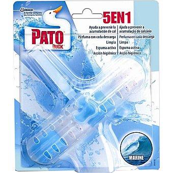 Pato Desinfectante WC 5 en 1 fragancia Marine aparato + recambio