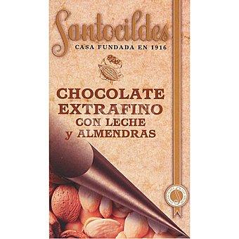 Santocildes Chocolate extrafino con leche y almendras Tableta 200 g
