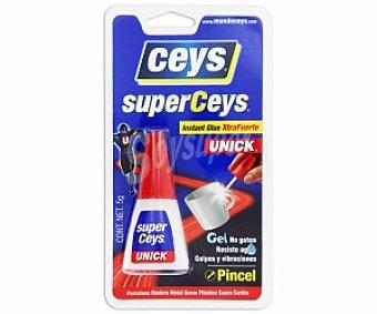 Ceys Adhesivo Instantaneo Transparente Extra-fuerte, Resistente al Agua y con Aplicador de Pincel. 5 Gramos 1 Unidad