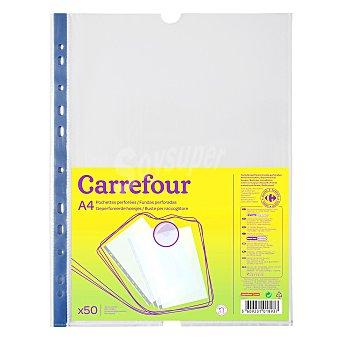 Carrefour Funda multitaladro pp bolsa 50 A4 70 micras 50 unidades