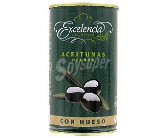 Excelencia Aceitunas negras con hueso Lata de 200 g