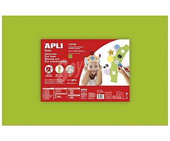 APLI Plancha de foam, goma eva de color verde claro y dimensiones 400x600x2 milímetros 1 unidad