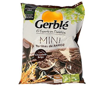 Gerblé Mini tortitas de arroz con chocolate belga 48 gramos