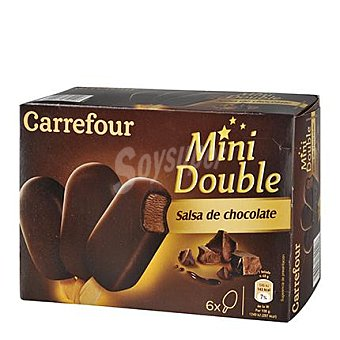 Carrefour Helado mini bombón doble de chocolate 6 ud