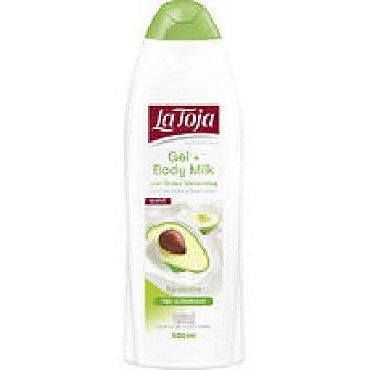 La Toja Gel body milk con aguacate Bote 550+100 ml