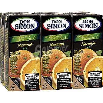 Don Simón Zumo de naranja y uva Pack 6 envase 200 ml