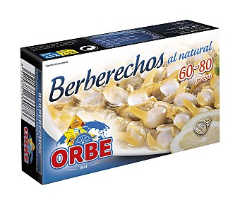 Orbe Berberechos al natural (60/80 piezas) Lata de 63 g