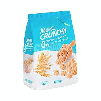 Hacendado Cereal muesli crujiente (0% azucares añadidos) Paquete 500 g