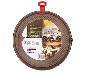 AUCHAN Molde de aluminio antiadherente para tartas, bizcochos...desmontable para fácil desmoldado, 28 centímetros de diámetro 1 Unidad