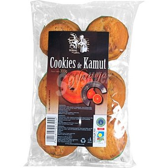 EL HORNO DE LEÑA cookies de kamut a la naranja biológicas envase 300 g