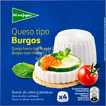 Aliada Queso fresco natural Pack 4 envases 62,60 g