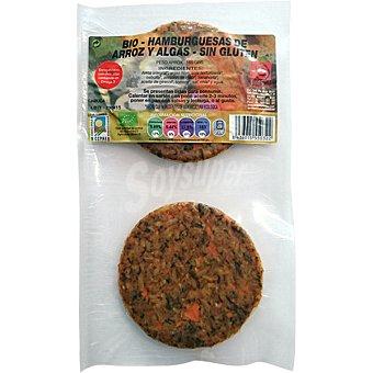 INTEGRAL ARTESANS bio hamburguesa de arroz y algas Envase 180 g