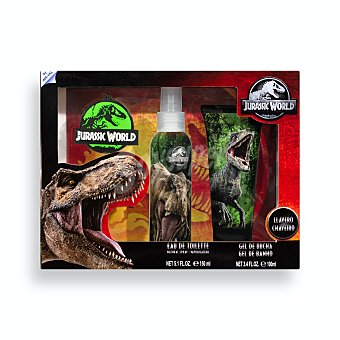 Jurassic world Lote infantil Eau de toilette (vaporizador 150 ml) + Gel baño (bote 100 ml) + llavero Estuche 3 u