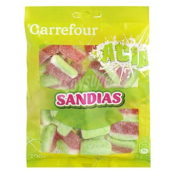 Carrefour Sandía de caramelo de goma con pica pica 200 g