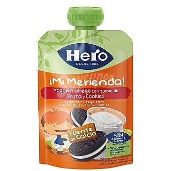 HERO Supernano Bolsita de yogur griego líquido con cookies 100 g