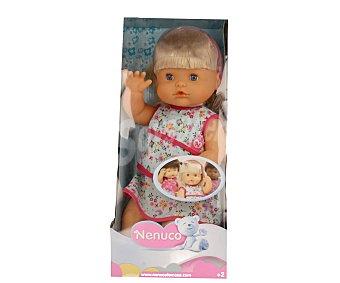 Nenuco Muñeca bebé niña con cuerpo duro y pelo rubio de la serie Nenuco étnicos, 42 cm de altura 1 unidad