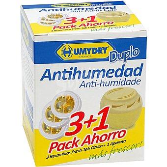 Humydry Antihumedad perfume limon recambios + aparato gratis Pack 3