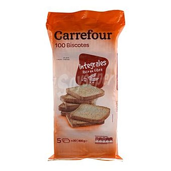 Carrefour Biscotes integrales Pack de 100x80 g