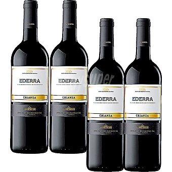 Ederra vino tinto crianza D.O. Rioja caja 4 caja 75 cl