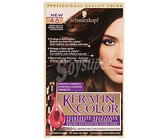 Keratin Color Schwarzkopf Coloración Permanente nº 4.6 Castaño Chocolate 1 unidad