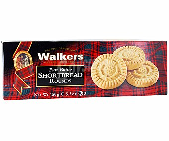 Walkers Galletas de mantequilla Shortbread Rounds 150 gramos