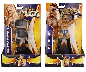 WWE Figuras articuladas súper strikers power attack 1 unidad