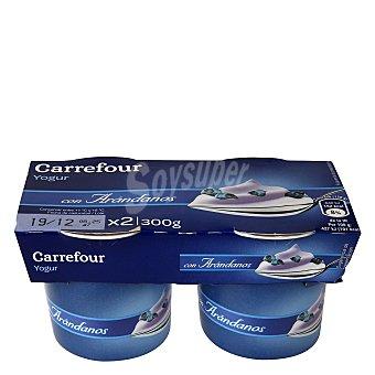 Carrefour Yogur con arándanos Pack 2x150 g