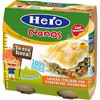 Hero Nano lasaña italia verdura 2x250gr