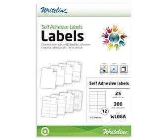 WRITELINE WL06A Etiquetas adhesivas 105x48mm A4 300 Unidades
