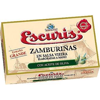 ESCURIS Zamburiñas en salsa vieira Lata 81 g neto escurrido