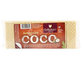 Gargallo Galletas barquillo rellenas sabor a coco 200 g