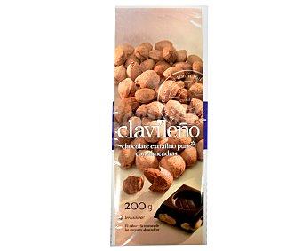 Clavileño Chocolate Extra Puro con Almendras 3 Unidades de 200 Gramos