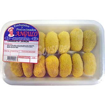 Embutidos y precocinados angulo Croquetas de jamon peso aproximado bandeja 500 g Bandeja 500 g