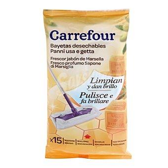 Carrefour Toallitas Suelos Marsella desechables 15 ud