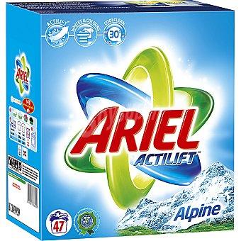 Ariel Detergente máquina polvo con actilift frescor de los Alpes Maleta 47 cacitos